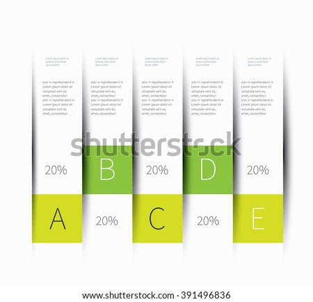 vector presentation wall lines with shadow and cut effect / vertical infographics table lines - stock vector