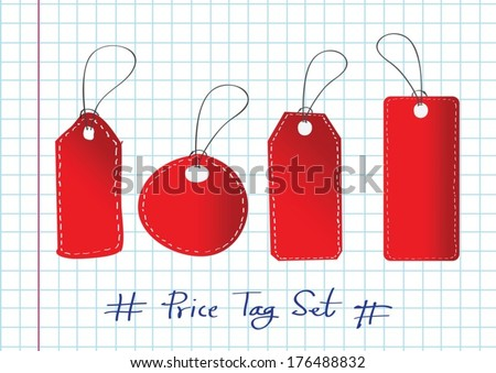 Vector price tag Sale Tags and Tags  Labels - stock vector