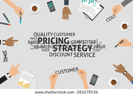 vector pricing strategy concept,template - stock vector