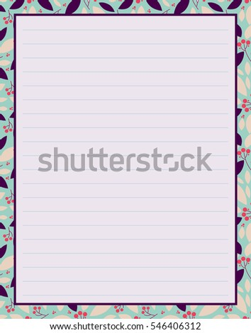 Vector Printing Paper Note Cute Paper Stock Vector ...