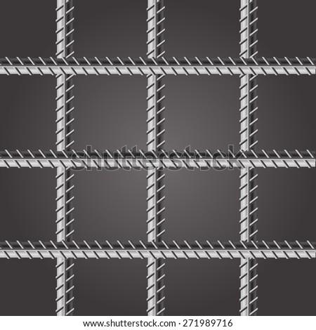 Vector Prison Bars. Jail Bars on Dark Background.  - stock vector