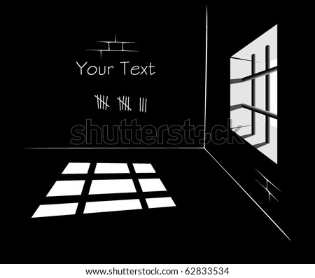 vector prison cell - stock vector