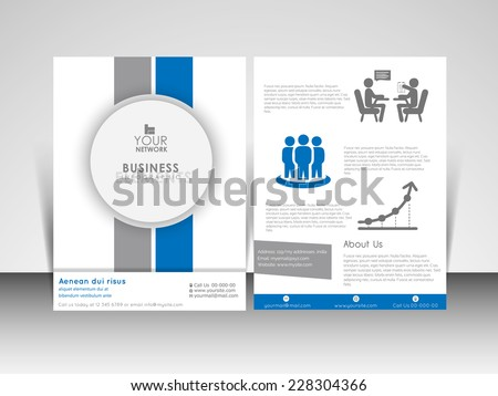 Flyer Design Vector Template A Size Stock Vector