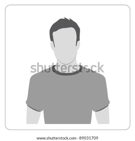Vector Profile icon - stock vector