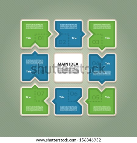 Vector Progress Background / Product choice or Version. eps 10 - stock vector