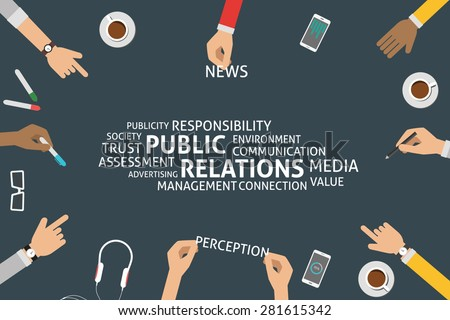 vector public relations concept,template - stock vector