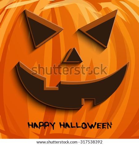 Vector pumpkin portrait  for Halloween on background. EPS - stock vector