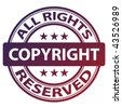 "vector pure ""copyright"" stamp - stock vector"
