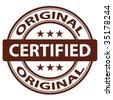"vector pure ""Original"" stamp - stock photo"
