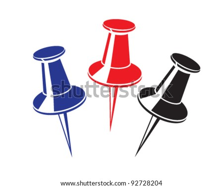 Vector pushpin - stock vector