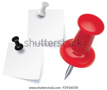 Vector pushpins - stock vector