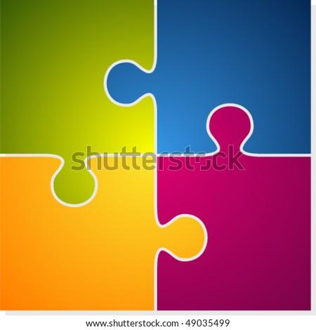 Vector puzzle - stock vector