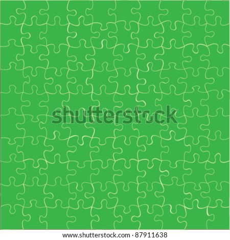 vector puzzle jigsaw - stock vector