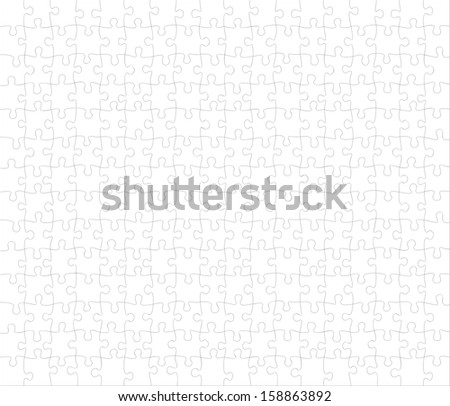 Vector puzzle. 252 pieces. All are individual pieces. - stock vector
