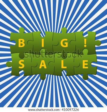 Vector puzzles in two rows with notice Big ! Sale