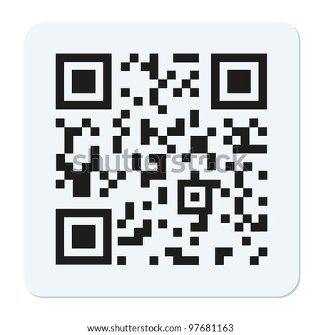 Vector qr code isolated on white - stock vector