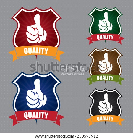 vector : quality badge, sticker, icon, label, vector format - stock vector