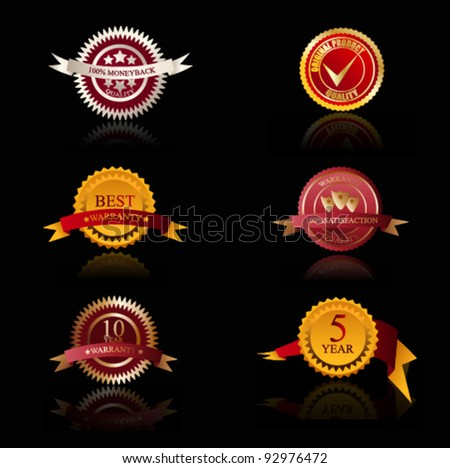 Vector Quality Labels and Seals - stock vector