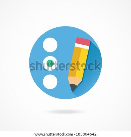 Vector Quiz or Radio Buttons Icon - stock vector