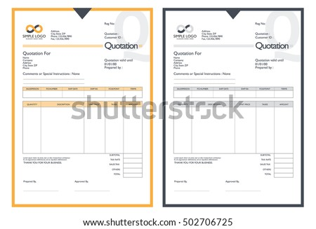 Vector Quotation Design Template Stock Vector 502706725 - Shutterstock
