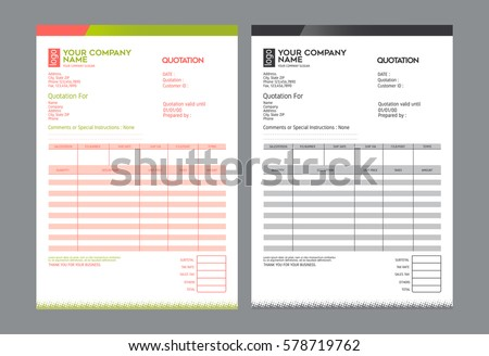 Vector Quotation Design Template Stock Vector   Shutterstock