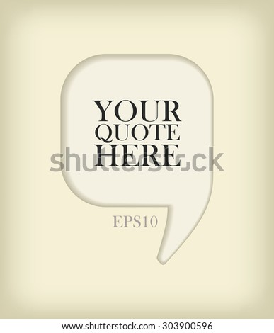 Vector quote frame - stock vector