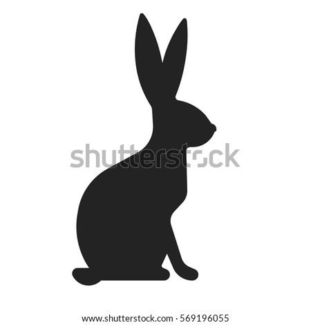 vector rabbit silhouette stock vector 569196055 shutterstock