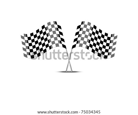 Vector race flags, 10eps - stock vector
