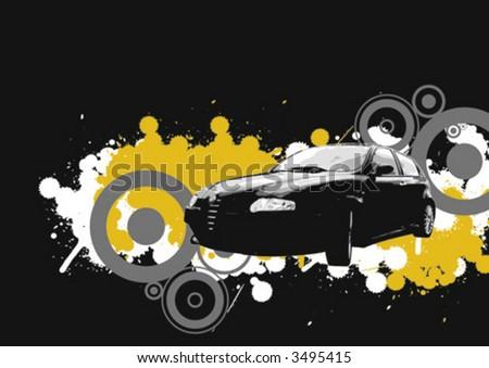 Vector racer - stock vector