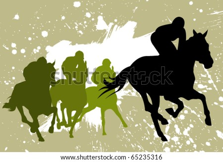 vector races silhouettes - stock vector