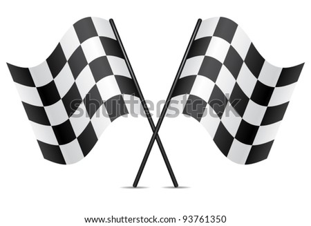 vector racing flags - stock vector