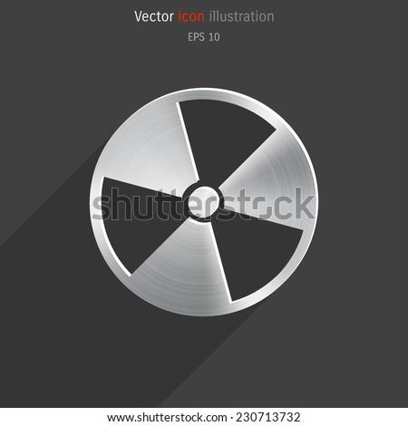 Vector radiation metallic icon. Eps 10. - stock vector