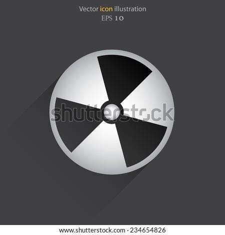 Vector radiation web icon. Eps 10. - stock vector