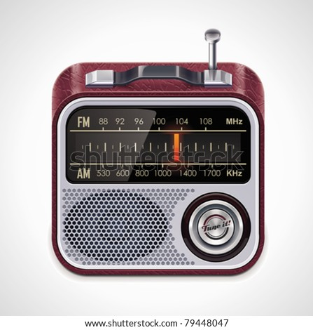 Vector radio XXL icon	 - stock vector