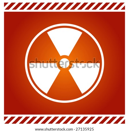 Vector radioactive sign - stock vector