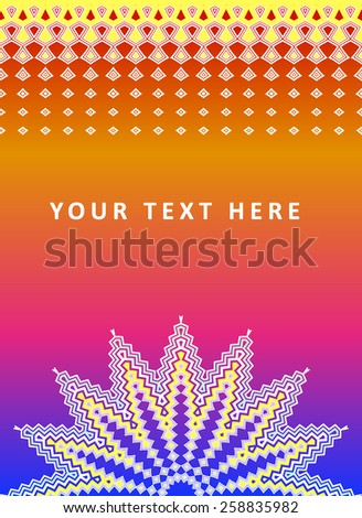 Vector rainbow bright background with abstract elements with place for text - stock vector