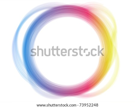 Vector - Rainbow Circle Border Brush Effect. - stock vector