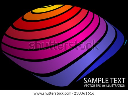Vector rainbow color abstract background  shape - Vector colorful abstract background illustration - stock vector