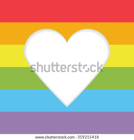 Vector Rainbow Gay Heart Background Template Stock Vector