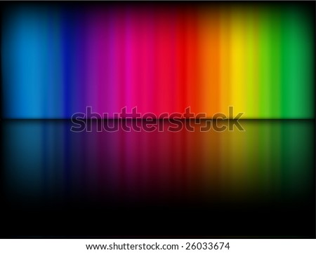 Vector - rainbow gradient on a black background with shiny reflection - stock vector