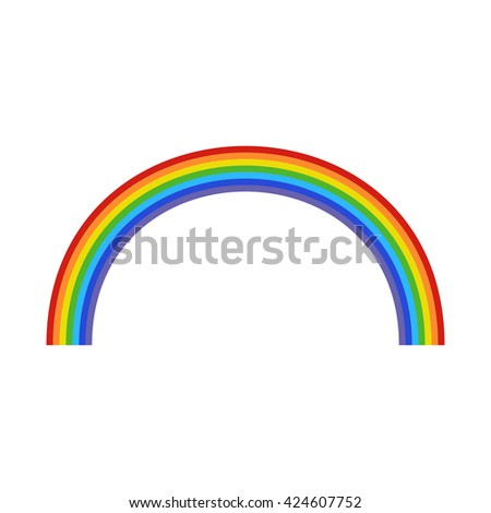 vector rainbow on a white background