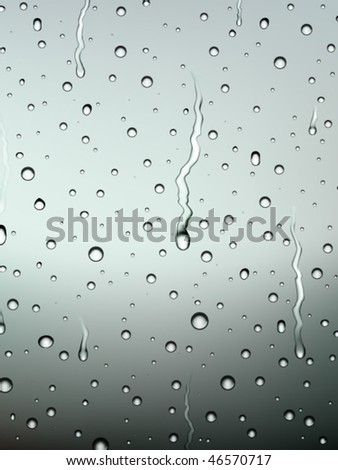 vector raindrops on glass - stock vector