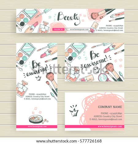 Vector ready design template makeup artist stock vector 577726168 vector ready design template for makeup artist makeup studio or cosmetics shop site header colourmoves
