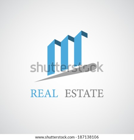 vector real estate architecture icon - stock vector