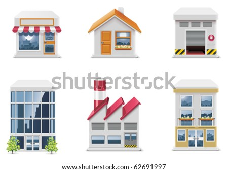 Vector real estate icons. Part 1 - stock vector