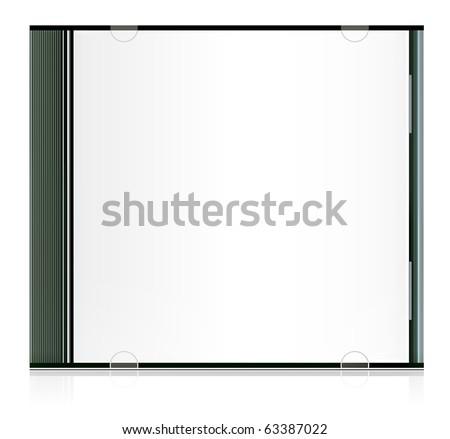 Vector realistic blank cd box - stock vector