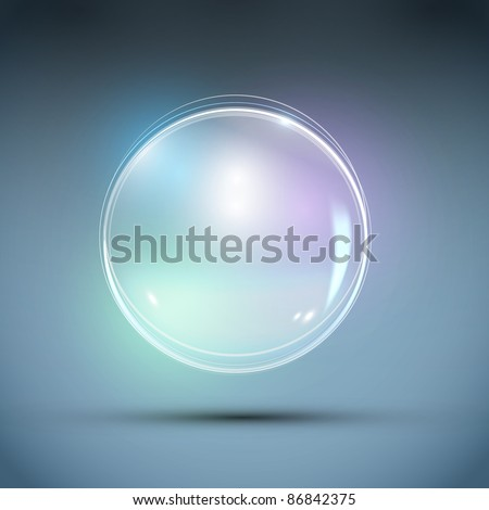 Vector Realistic Bubble. Abstract Background - stock vector