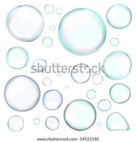 vector realistic bubbles - stock vector