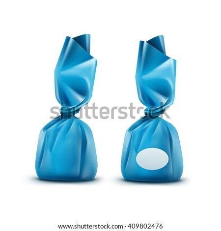Vector Realistic Chocolate Candy Blue Glossy Stock Vector ...