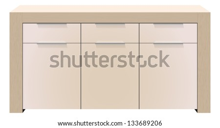 vector realistic commode on white background,eps10 file, transparency used, raster version available - stock vector
